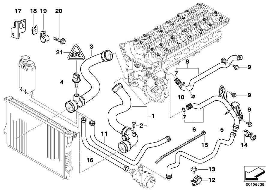 2000 bmw 528i cooling system diagram