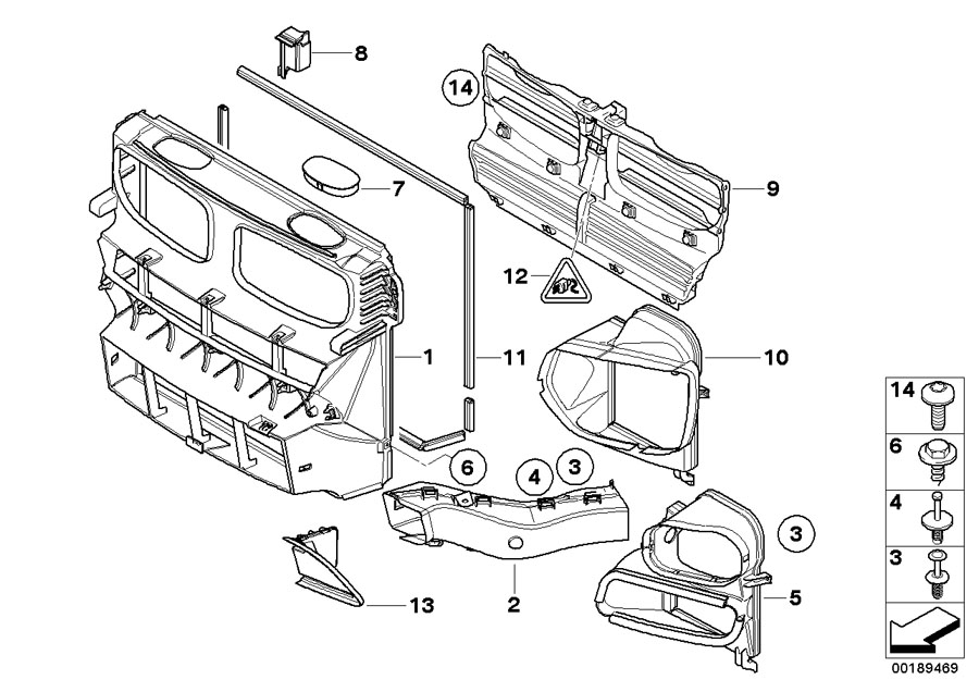 2013 bmw x5 bumper diagram