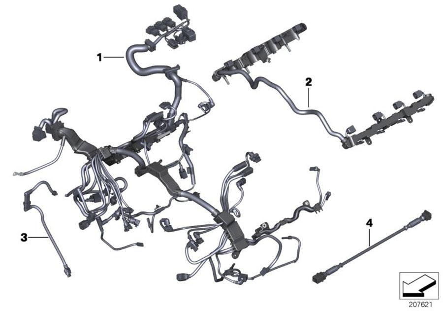 Bmw 550i Engine Wiring Harness  System  Electrical