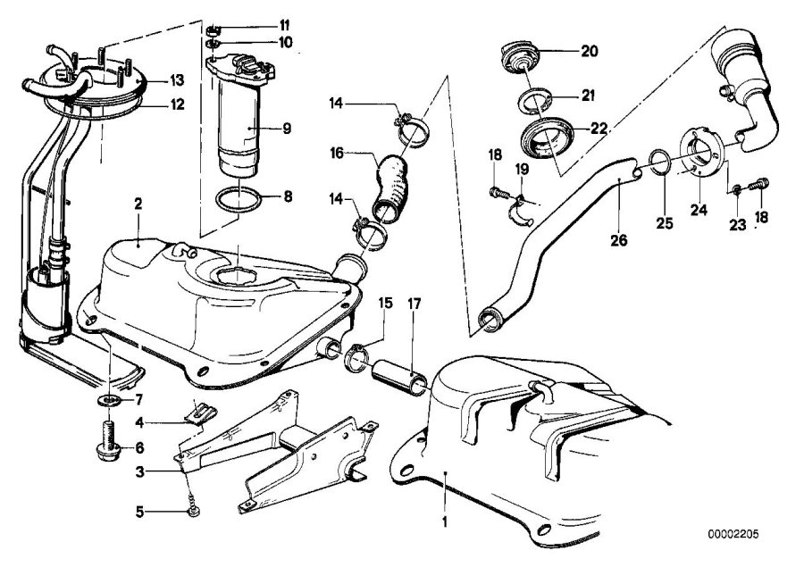 Bmw 320i Suction Device W Pump  Fuel  Tank  System
