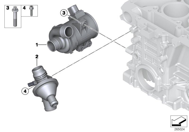 Bmw X3 Thermostat  Engine  Cooling  Waterpump  Maintenance