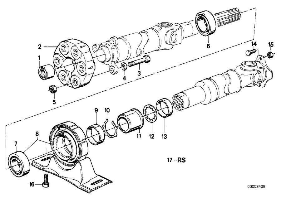 Bmw 325i Universal Joint  Lk 78mm  D 110mm  Drive  Shaft  Hole