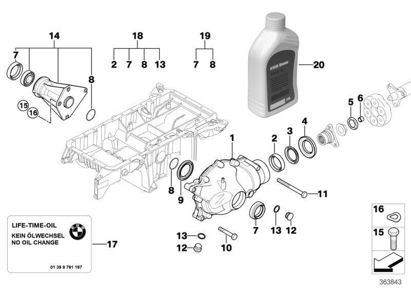 bmw x3 final-drive gear oil saf-xo  osp  1000ml  coop  jcw  differential