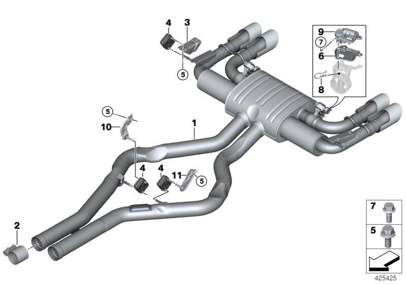 Bmw 328i Fixing Bow  System  Exhaust  Rear