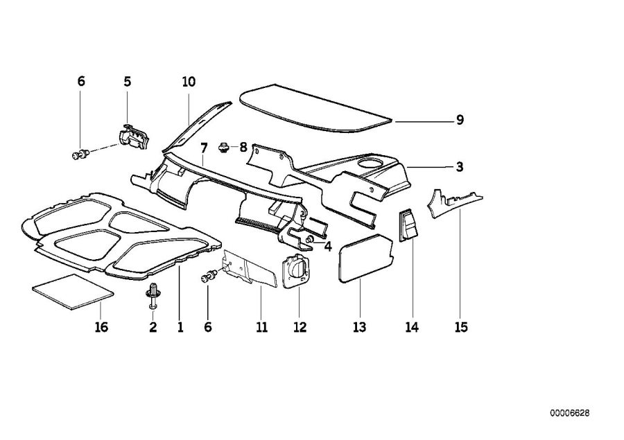 1998 bmw 328i body parts diagram