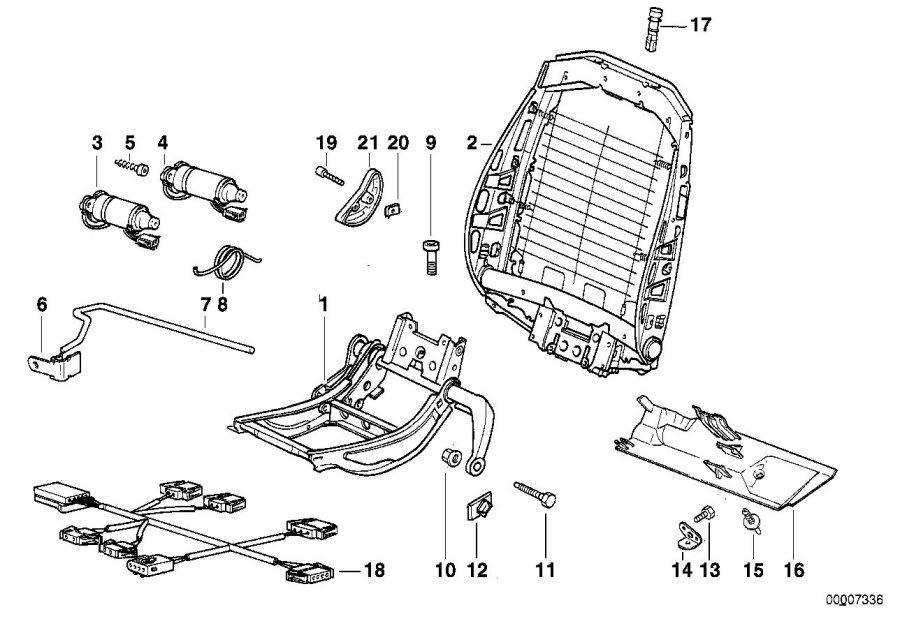 1999 BMW 318ti Hatchback Automatic Actuator, backrest ...