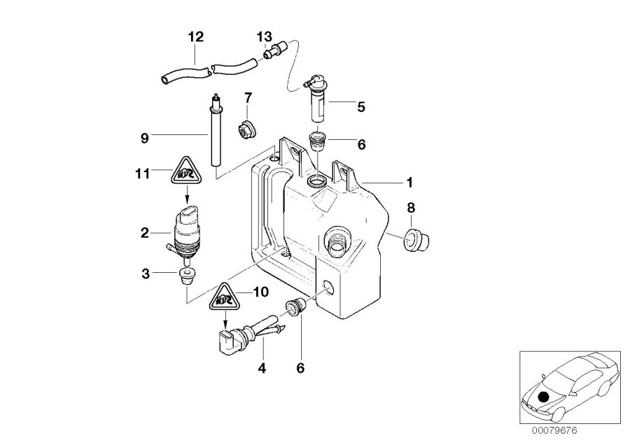 2007 bmw x3 headlight parts diagram