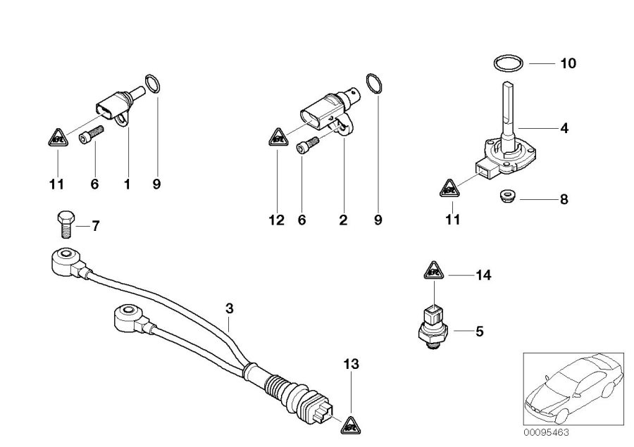 Bmw X3 Oil Pressure Sensor  Engine  System