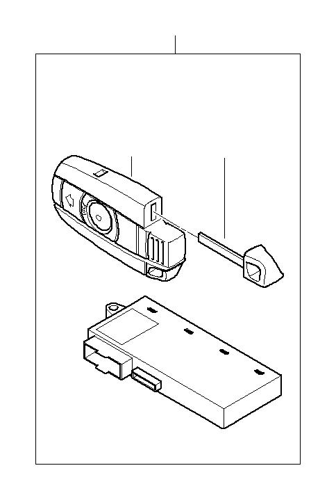 bmw x1 radio remote control  315 mhz  trim  key  body