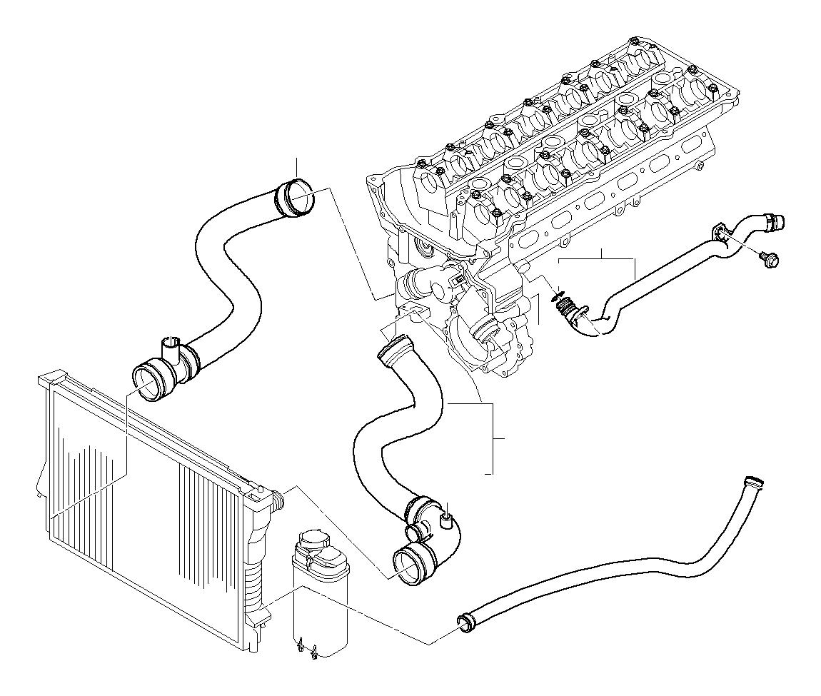 BMW 325i Return hose. Cooling, Hoses, Engine - 11531436410 ...